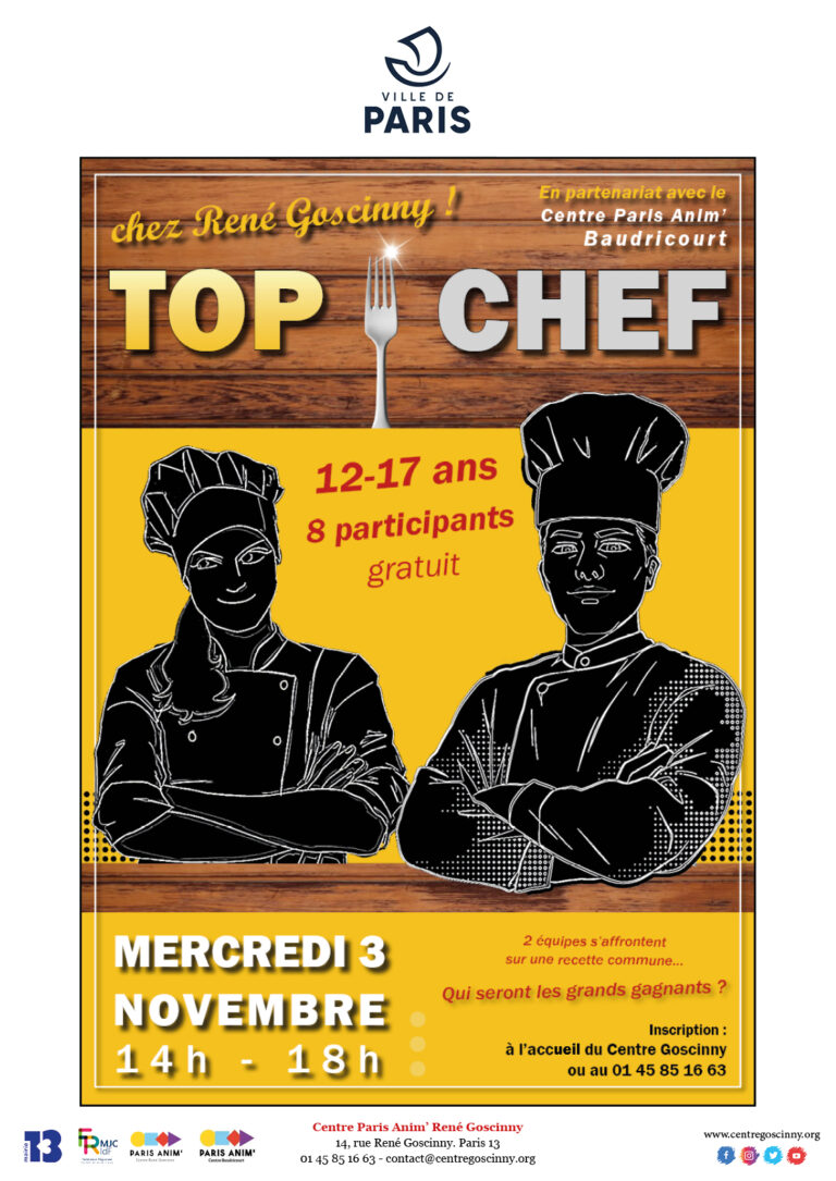 Affiche TOP CHEF 3 nov 2021_ville de Paris